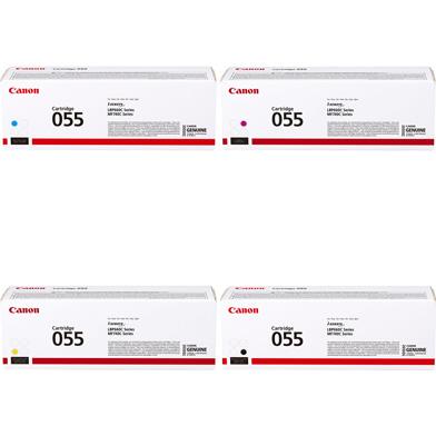 Canon 055 Toner Cartridge Value Pack CMY (2.1K Pages) K (2.3K Pages)