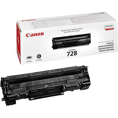 Canon 728 Black Toner Cartridge (2,100 Pages)