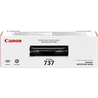 Canon 737 Black Toner Cartridge (2,400 Pages)