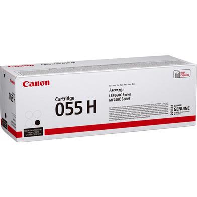 Canon 055H Black Toner Cartridge (7,600 Pages)