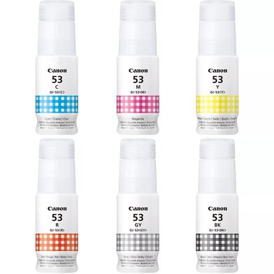 Canon GI-53 6 Colour Ink Bottle Value Pack