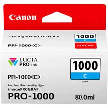 Canon PFI-1000C Cyan Ink Cartridge (675 Photos)