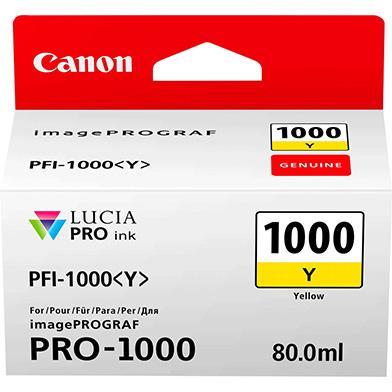 Canon 0549C001 PFI-1000Y Yellow Ink Cartridge (329 Photos)