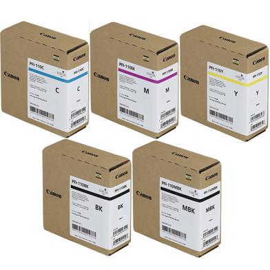 Canon PFI-110 5 Colour Ink Cartridge Value Pack (160ml)