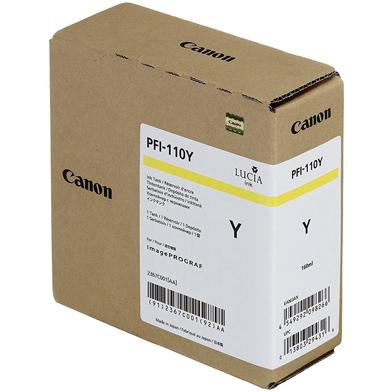 Canon PFI-110Y Yellow Ink Cartridge (160ml)