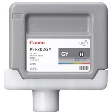 Canon PFI-302GY Grey Ink Cartridge (330ml)