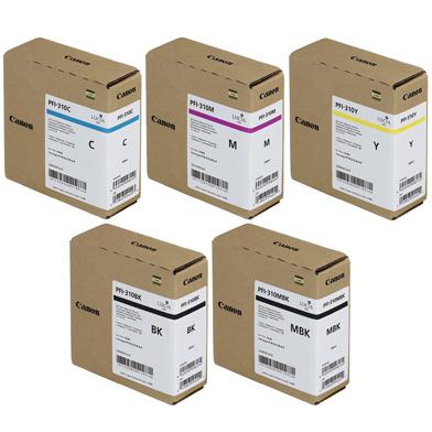 Canon PFI-310 5 Colour Ink Cartridge Value Pack (330ml)