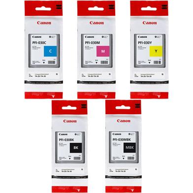 Canon PFI-030 5 Colour Ink Cartridge Value Pack