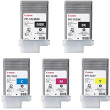Canon PFI-102 Ink Cartridge Value Pack (130ml x 5)