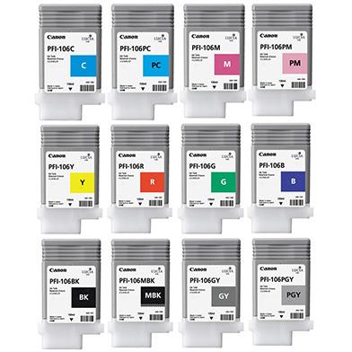 Canon PFI-106 Ink Cartridge Value Pack (130ml x 12)