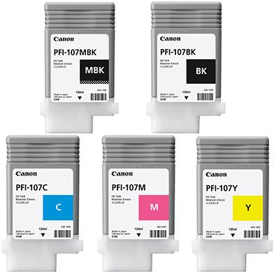 Canon PFI-107 Ink Cartridge Value Pack (130ml x 5)