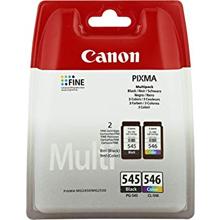 Canon PG-545/CL-546 Black & Tri-Colour Ink Cartridge Multipack K (180 Pages) CMY (180 Pages)