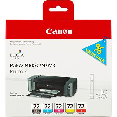 Canon 6402B009 PGI-72 5 Ink Cartridge Multipack (MBK + C + M + Y + R)