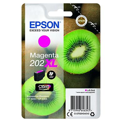 Epson Magenta 202XL Claria Premium Ink (650 Pages)