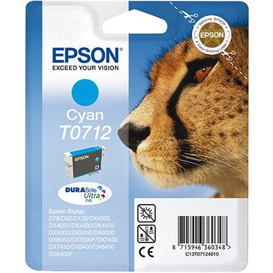 Epson Cyan T0712 Ink Cartridge (5.5ml)