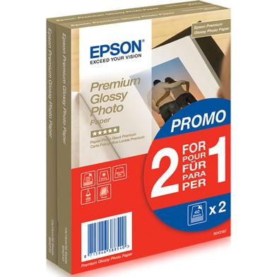 Epson Premium Glossy Photo Paper - 255gsm (10 x 15cm / 2 x 40 Sheets)