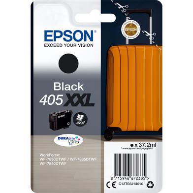 Epson C13T02J14020 405XXL Black DURABrite Ultra Ink Cartridge (2,200 Pages)
