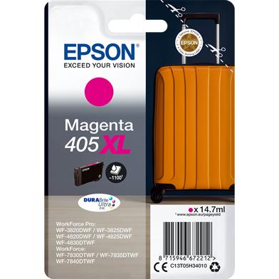 Epson C13T05H34010 405XL Magenta DURABrite Ultra Ink Cartridge (1,100 Pages)