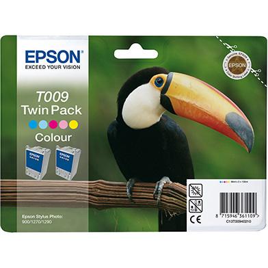 Epson T009 Five Colour Ink Cartridge Pack (2 x 66ml)