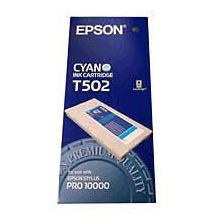 Epson Cyan T502 Ink Cartridge (500ml)