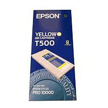 Epson Yellow T500 Ink Cartridge (500ml)