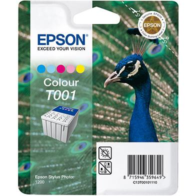 Epson T001 5 Colour Ink Cartridge (66ml)