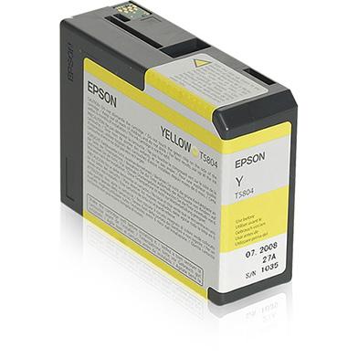 Epson Yellow T5804 Ink Cartridge (80ml)