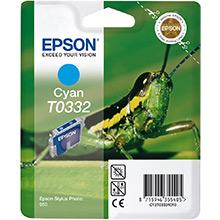 Epson Cyan T0332 Ink Cartridge (17ml)