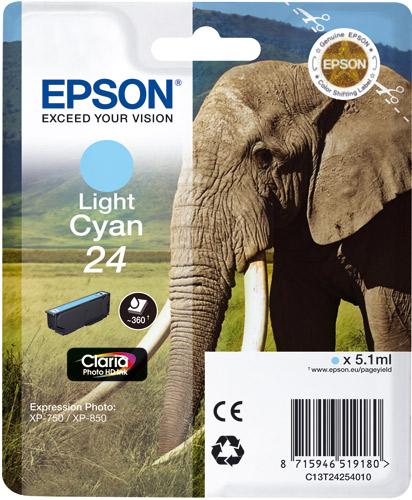 Epson Light Cyan No.24 Claria Photo HD Ink Cartridge
