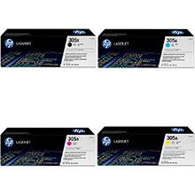 HP 305X/305A Toner Value Pack 4k Black, 2.6k CMY
