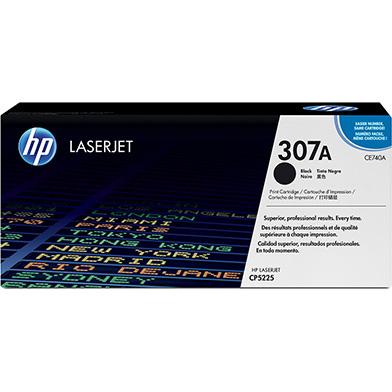 HP CE740A 307A Black Toner Cartridge (7,000 pages)
