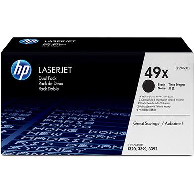 HP Q5949XD 49X High Yield Black Toner Cartridge Multipack (6,000 Pages x 2)