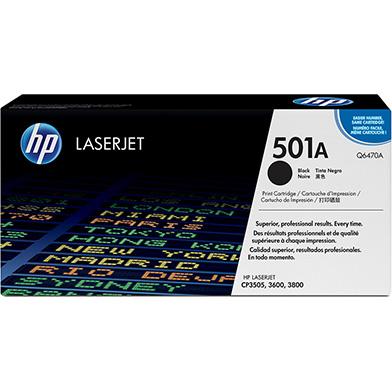 HP Q6470A 501A Black Print Cartridge (6,000 pages)