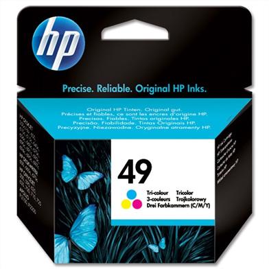 HP 51649AE No.49 Tri-Colour Ink Cartridge (22.8ml)