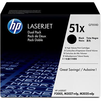 HP 51x Black Toner Cartridge Dual Pack (13,000 pages each)