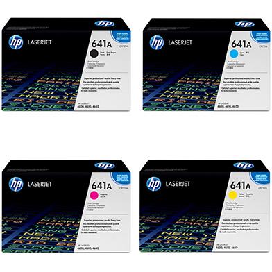 HP hp4600value 641A Toner Rainbow Pack CMY (8k) + Black (9k)