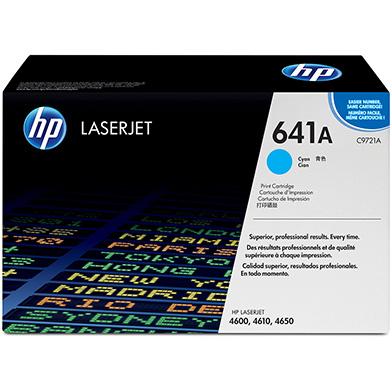 HP C9721A 641A Cyan Print Cartridge (8,000 pages)