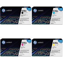 HP 646A Toner Value Pack 17k Black 12.5k CMY