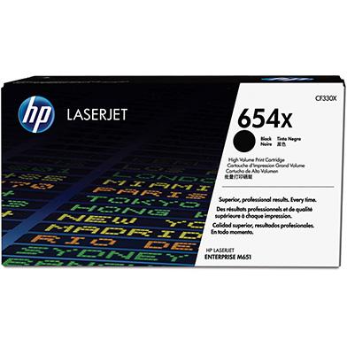 HP CF330X 654X High Capacity Black Toner Cartridge (20,500 pages)