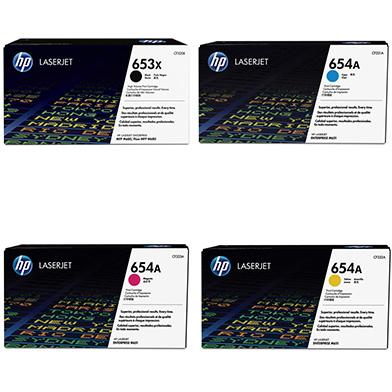 HP HPM680TONERPKHI 653X/653A Hi-Cap Rainbow Toner Pack CMY (16.5k) K(21k)