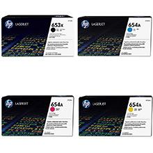 HP 653X/653A Hi-Cap Rainbow Toner Pack CMY (16.5k) K(21k)