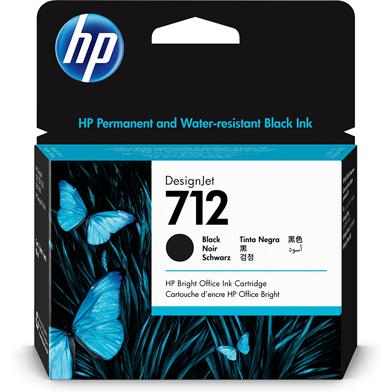 HP 712 Black DesignJet Ink Cartridge (80ml)