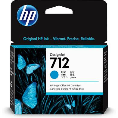 HP 712 Cyan DesignJet Ink Cartridge (29ml)