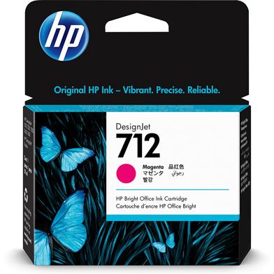 HP 712 Magenta DesignJet Ink Cartridge (29ml)