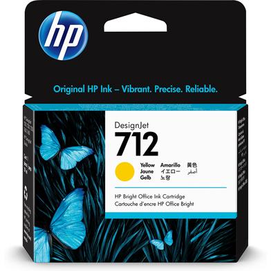 HP 712 Yellow DesignJet Ink Cartridge (29ml)