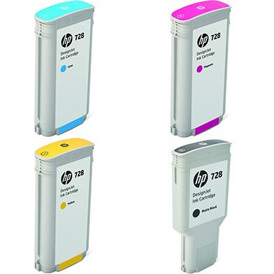 HP HP728HICVAL 728 High Capacity Ink Multipack K (300ml) CMY (130ml)