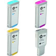 HP 728 High Capacity Ink Multipack K (300ml) CMY (130ml)