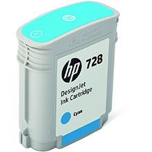 HP 728 Cyan Ink Cartridge (40ml)