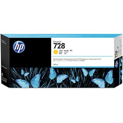 HP F9K15A 728 Yellow Ink Cartridge (300ml)