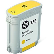 HP 728 Yellow Ink Cartridge (40ml)